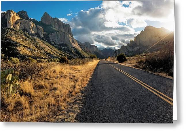 Road To Portal, Arizona Greeting Card by Susan Degginger