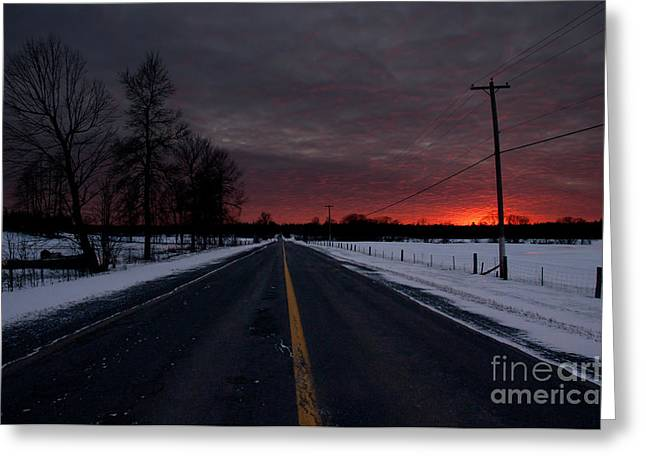Road To Success Greeting Card by Cheryl Baxter