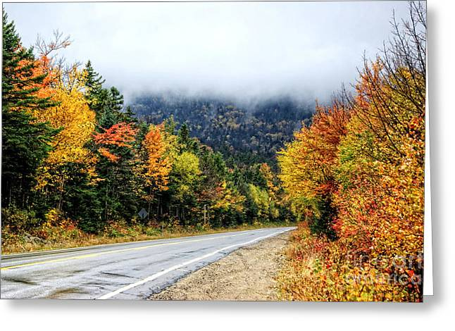 Road To The Clouds Greeting Card