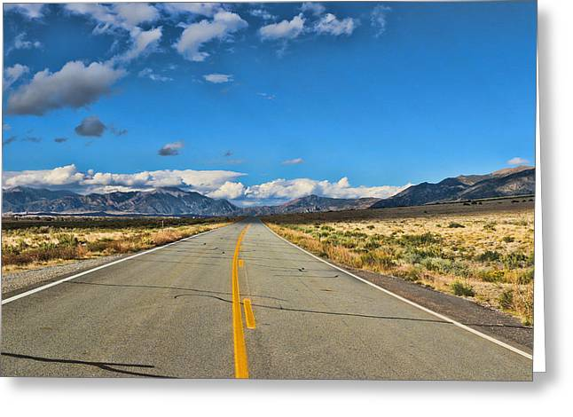 Road To The Great Sand Dunes Greeting Card by Allen Beatty