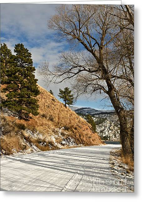 Greeting Card featuring the photograph Road To The Lake by Sue Smith