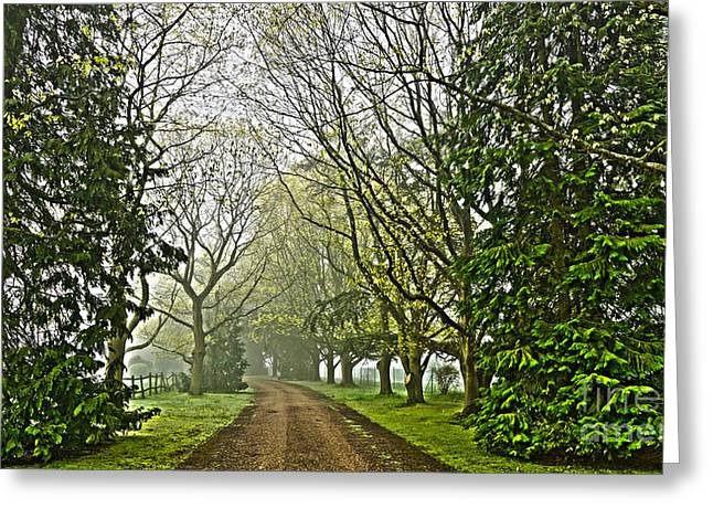 Road To The Manor House Greeting Card