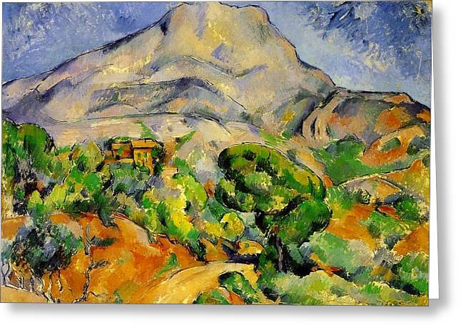 Road To The Montagne Sainte-victoire Greeting Card by Paul Cezanne