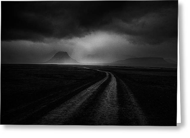 Road To The Stormy Land Greeting Card