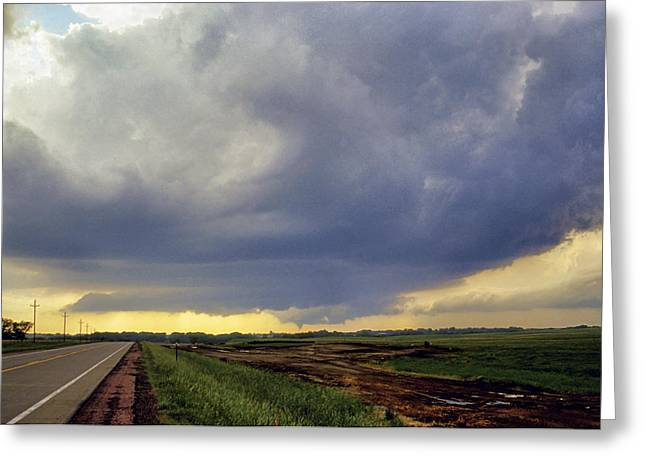 Road To The Tornado - Woonsocket South Dakota Greeting Card by Jason Politte