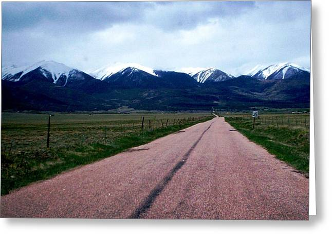 Greeting Card featuring the photograph Road To Westcliffe by Carlee Ojeda