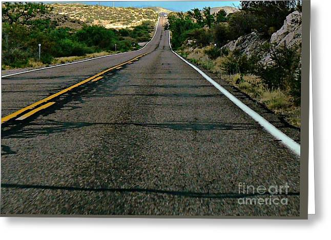 Greeting Card featuring the photograph Road Trip by Lin Haring