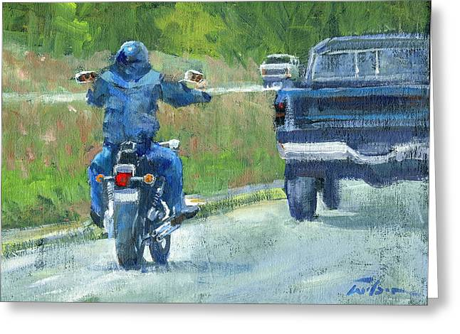 Road Warrior - Cruising Greeting Card by Ron Wilson