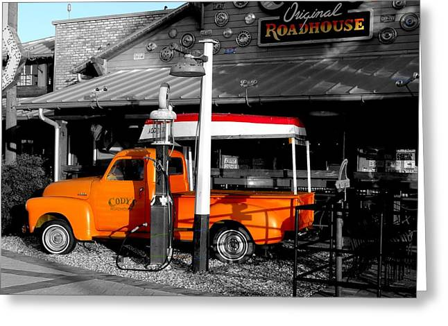 Roadhouse Greeting Card by Dennis Dugan