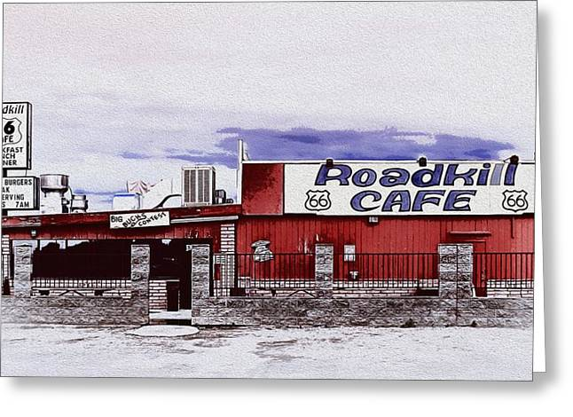 Roadkill Cafe Greeting Card