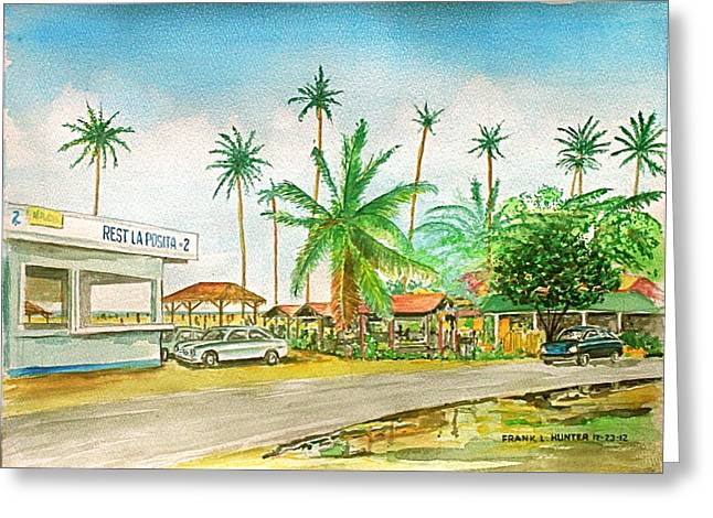 Roadside Food Stands Puerto Rico Greeting Card