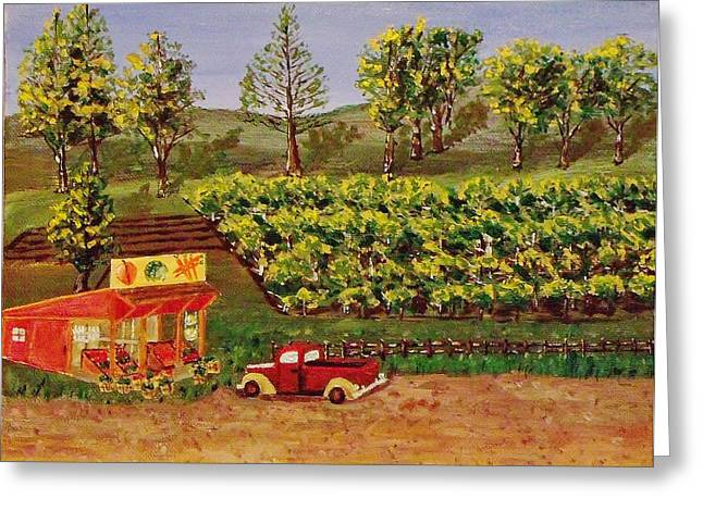 Roadside Fruits And Veggies Greeting Card