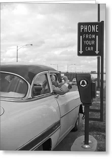 Roadside Public Telephone Greeting Card