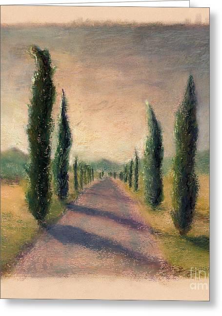 Roadway To Somewhere Greeting Card by Logan Gerlock