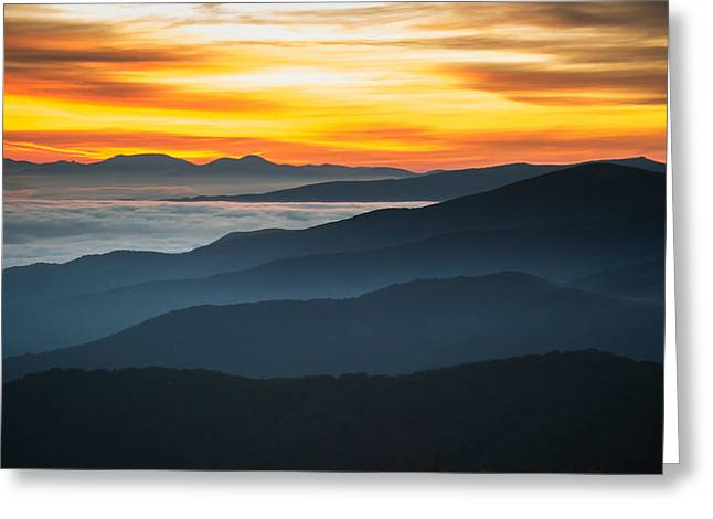 Greeting Card featuring the photograph Roan Mountain Sunrise by Serge Skiba