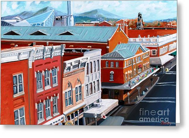 Roanoke City Market Greeting Card by Todd Bandy