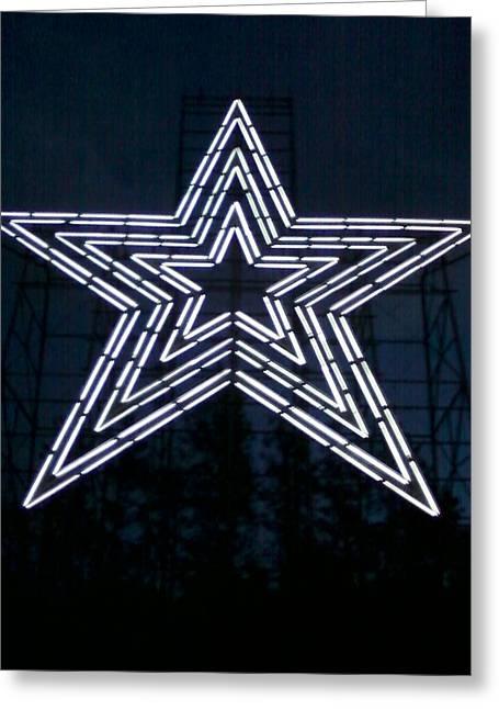 Roanoke Star By Angelia Clay Greeting Card