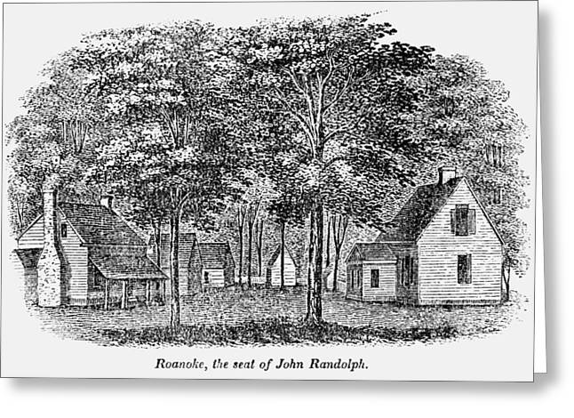 Roanoke, Virginia, 1856 Greeting Card by Granger
