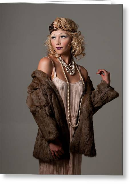 Roaring 20's Greeting Card by Greg Thelen