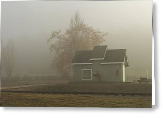 Roaring Camp Misty Morning Panorama Greeting Card by Larry Darnell