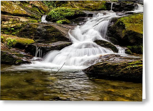 Roaring Fork Falls 04 Detail Greeting Card