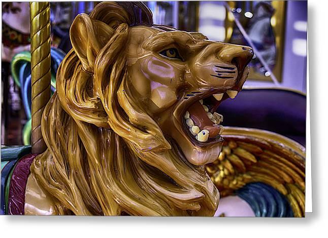 Roaring Lion Ride Greeting Card