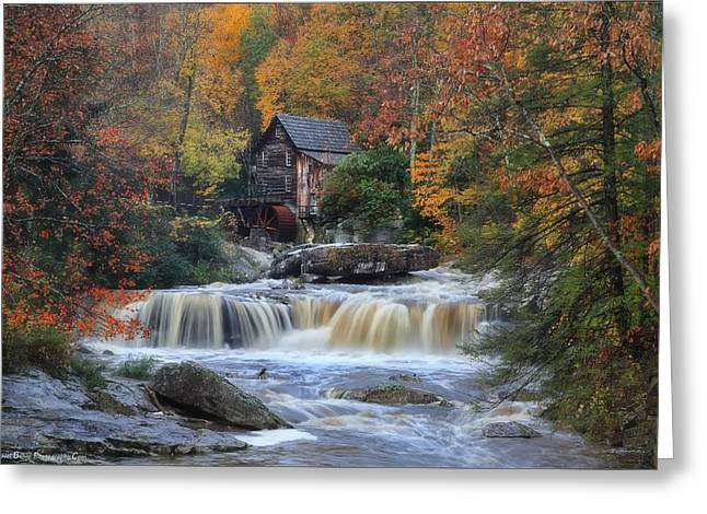Roaring Past The Mill Greeting Card by Daniel Behm
