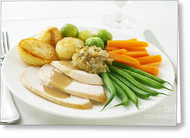 Roast Chicken Dinner Greeting Card