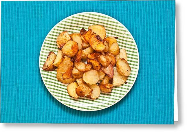 Roast Potatoes Greeting Card by Tom Gowanlock