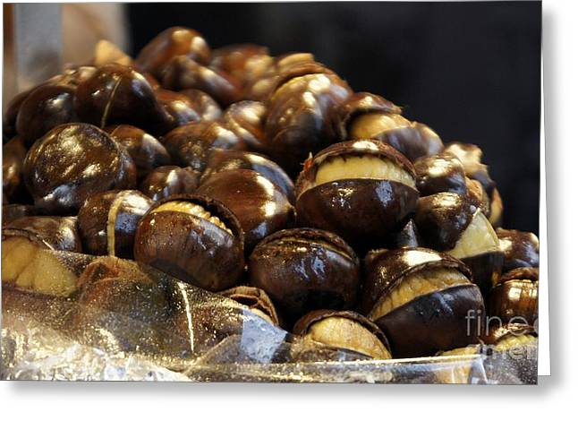 Greeting Card featuring the photograph Roasted Chestnuts by Lilliana Mendez