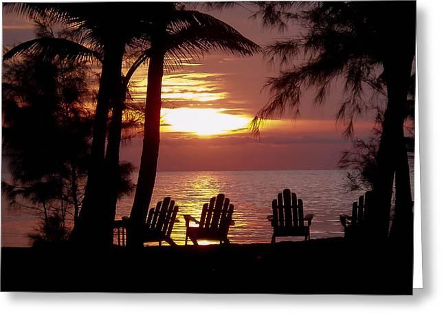Roatan Sunrise Greeting Card