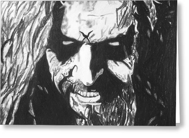 Rob Zombie Greeting Card by Jeremy Moore
