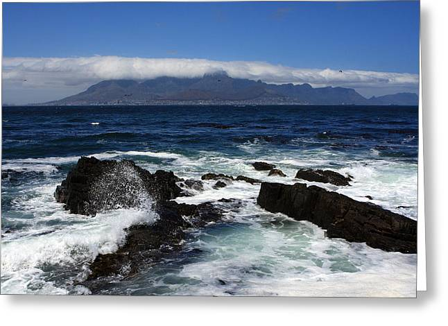 Robben Island View Greeting Card by Aidan Moran