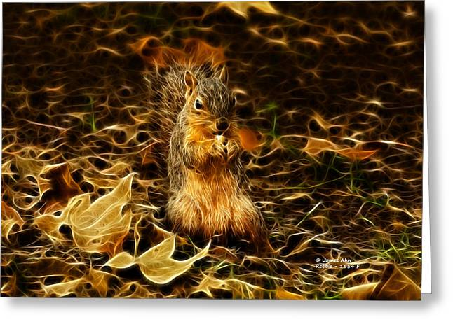Robbie The Squirrel -1554 F Greeting Card by James Ahn