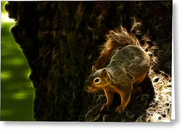 Robbie The Squirrel 7360 - F Greeting Card