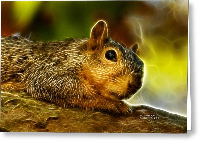 Robbie The Squirrel 7415 - F Greeting Card