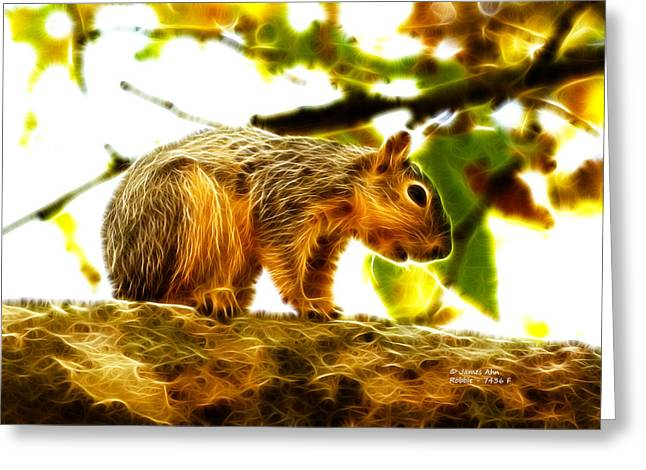 Robbie The Squirrel - 7436 F Greeting Card