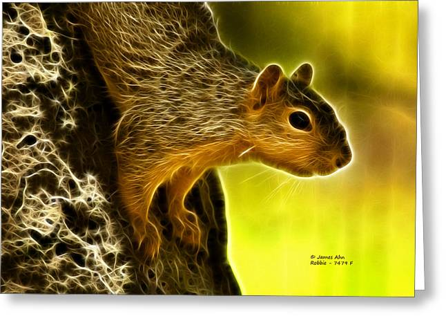 Robbie The Squirrel 7479 - F Greeting Card
