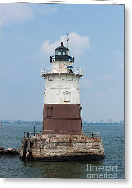 Robbins Reef Light I Greeting Card by Clarence Holmes