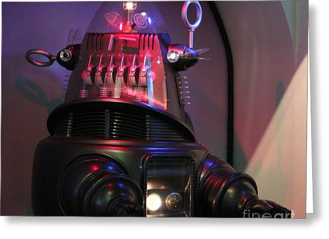 Greeting Card featuring the photograph Robby The Robot 1956 by Cynthia Snyder