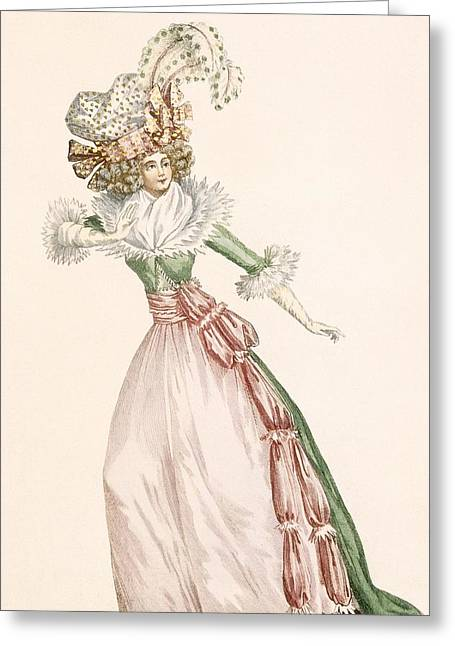 Robe De La Czarine, Plate From Galeries Greeting Card by Jean Florent Defraine