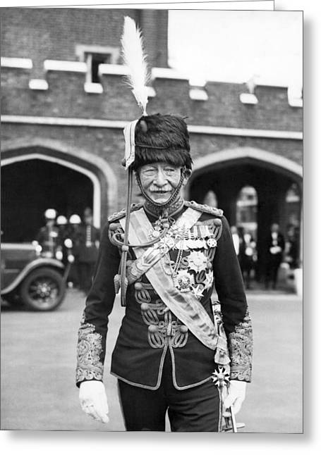 Robert Baden-powell Greeting Card by Underwood Archives