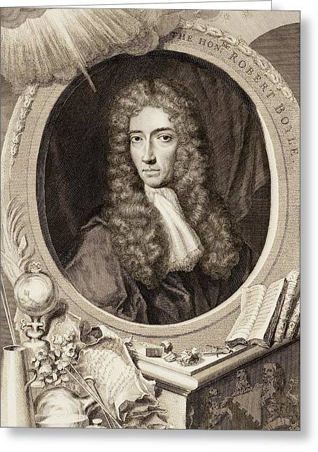 Robert Boyle Greeting Card by Gregory Tobias/chemical Heritage Foundation