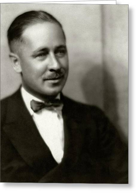 Robert C. Benchley Wearing A Tuxedo Greeting Card by Nicholas Muray