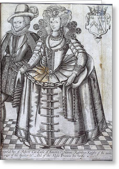 Robert Car And Ladie Francis Greeting Card by British Library