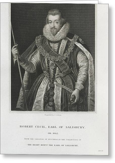 Robert Cecil Greeting Card by British Library