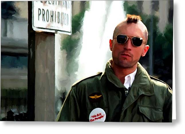 Robert De Niro In The Film Taxi Driver - Martin Scorsese 1976 Greeting Card