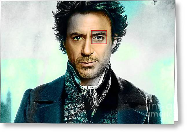 Robert Downey Jr  Greeting Card by Marvin Blaine