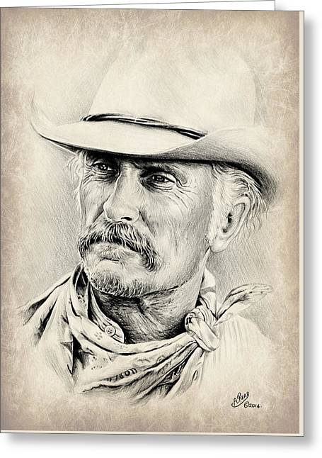 Robert Duvall Sepia Scratch Greeting Card