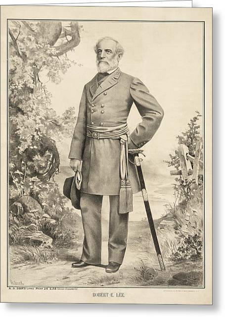 Robert E Lee Greeting Card by Bill Cannon